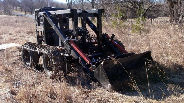 Designed and built on Marcin Jakubowski's farm, this tractor cost far less than a commercial tractor.