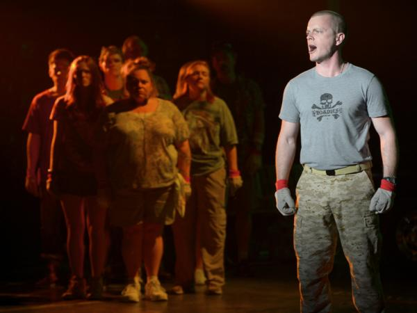 David Larsen plays a former Marine drawing strength from his training to endure the contest. The musical explores what drives each character to be there and stay through the ordeal.