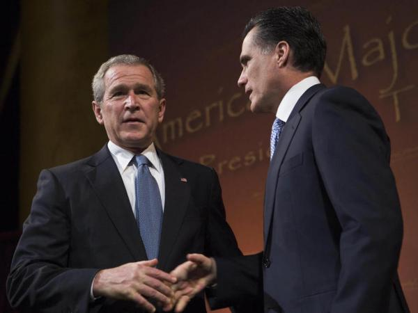 Back in 2006: Then-President George W. Bush and then-Gov. Mitt Romney