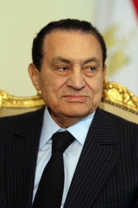 Egyptian President Hosni Mubarak resigned Feb. 11, ending his 30-year rule. Here, he's shown two days earlier in Cairo.