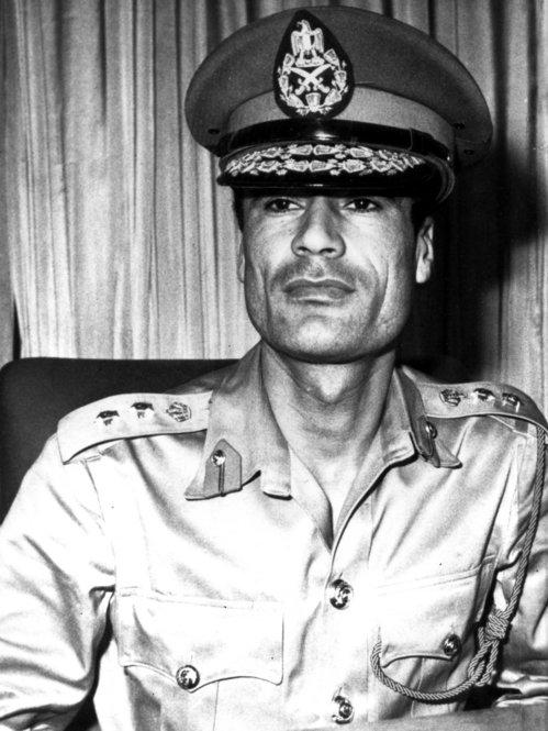 1969: Col. Moammar Gadhafi (right), two years before he seized power in a coup. He and a group of revolutionary army officers ended the 18-year reign of King Idris.