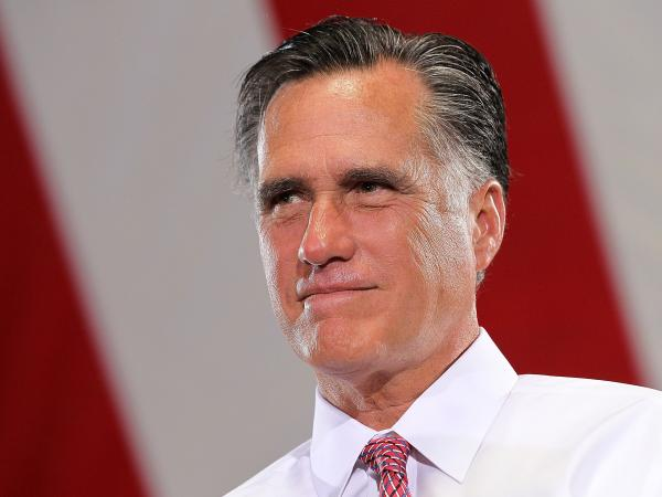 Republican presidential candidate Mitt Romney on Tuesday in Las Vegas.