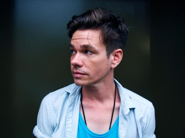 Nate Ruess before fun.'s show at Music Hall of Williamsburg in Brooklyn on Friday.