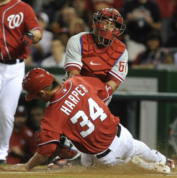 Bryce Harper's legend grew when he stole home after being hit — deliberately — by a pitch from the Philadelphia Phillies' Cole Hamels on May 6.