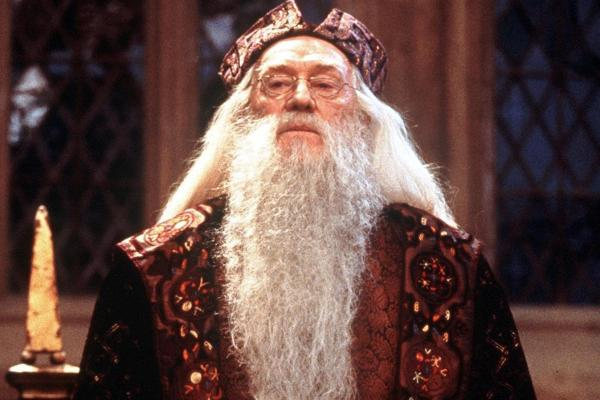 Richard Harris' tenure as Professor Dumbledore in the Harry Potter series was cut short by his death in 2002.