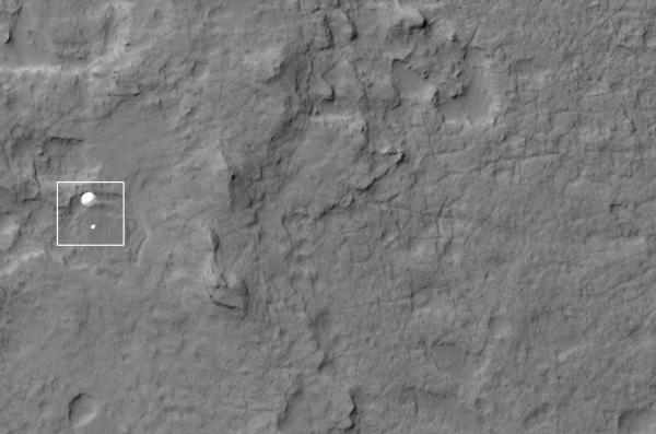 The Mars rover Curiosity.