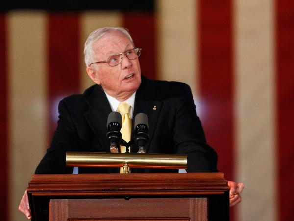 Neil Armstrong last November at the U.S. Capitol, when he and the other astronauts from the Apollo 11 mission were awarded Congressional Gold Medals.