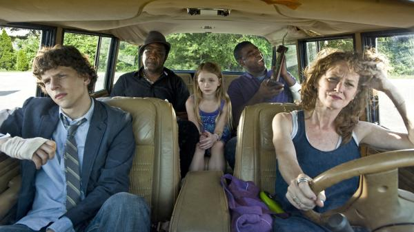 Eli (Jesse Eisenberg) and his mother, Penny (Melissa Leo), fall in with Penny's inept drug dealer, Sprinkles (Tracy Morgan), in the trite new indie drama <em>Why Stop Now</em>.