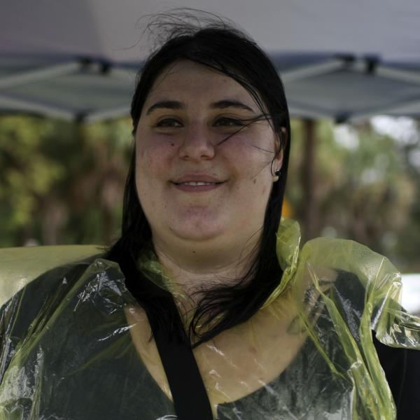 Michela Martinazzi, 20, a University of Florida student, was among the protesters.