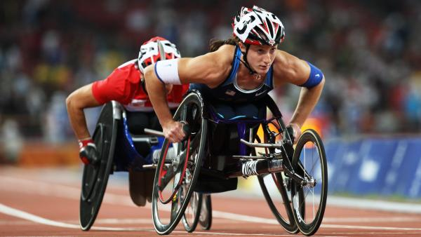 Tatyana McFadden has won medals at the Paralympic Games in 2004 and 2008. At this year's games in London, she's participating in every wheelchair race from the 100-meter sprint to the marathon.