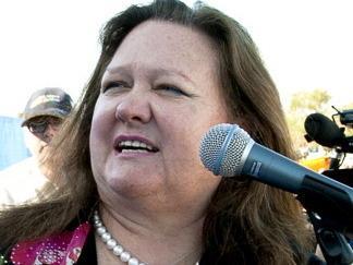 Australian mining magnate Gina Rinehart.