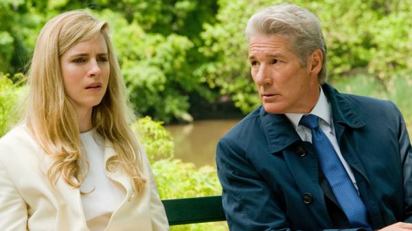 Robert Miller (Richard Gere) struggles to hide his financial indiscretions from his daughter (Brit Marling) in <em>Arbitrage</em>.