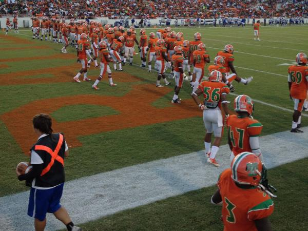 Florida A&M University just played its first home game of the season without its famous marching band. Instead, Atlanta rapper Future performed from one end zone.