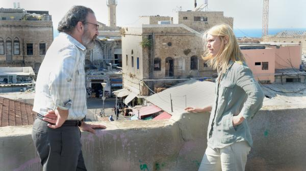 A phone call from her former boss, Saul (Mandy Patinkin), delivers Carrie Mathison (Claire Danes) back into the action of <em>Homeland</em>'s second season.