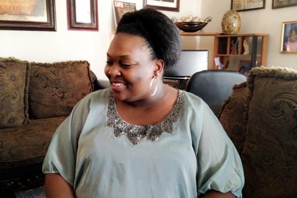 Johnita Ellerby, a single mother of four, is studying social work while working full time.