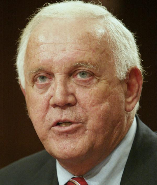 Former Sen. Warren Rudman, R-N.H., in 2002.