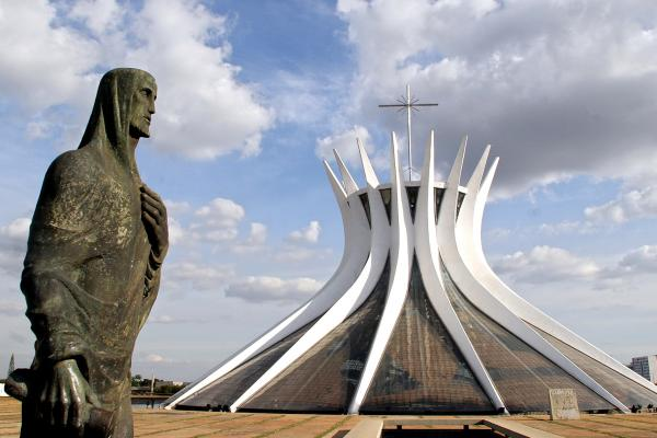 Brasilia Cathedral was inaugurated by President Juscelino Kubitschek in 1960.