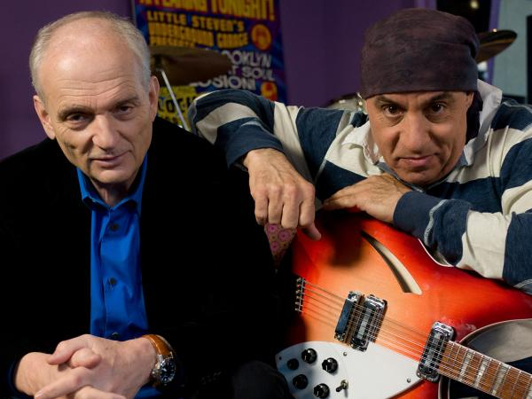 Director David Chase and Executive Producer and Music Supervisor Steve Van Zandt on the set of <em>Not Fade Away</em>.