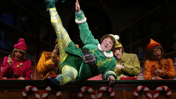 Jordan Gelber plays Buddy the Elf in <em>Elf</em> on Broadway. The limited-run production may not turn a profit immediately, but producers have a multipronged strategy for making money.