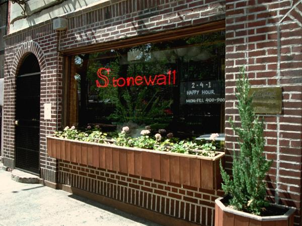 The Stonewall Inn in the Greenwich Village section of New York City was the site of the 1969 riot that sparked the gay-rights movement.