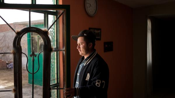 Armando Tenorio at his home in Mexico last December. Tenorio spends most of the year working on a blueberry farm in Canada, on a temporary work permit, to support his family in Mexico.