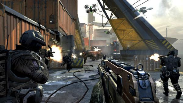 A typical scene from <em>Call of Duty: Black Ops 2, </em>the latest in the series of wildly popular video games.