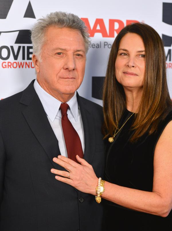 Dustin Hoffman attends the AARP's Movies for Grownups Awards with his wife, Lisa Hoffman. Hoffman's <em>Quartet</em> is just one of a new crop of popular films that target an over-50 audience.