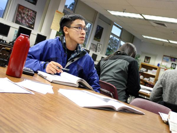 Nelson Kanuk, a senior at Mt. Edgecumbe High School, is one of six Alaskan youth suing the state, asking it to pay more attention to climate change.
