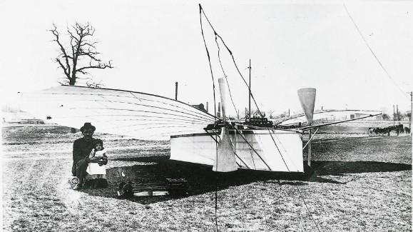 Gustave Whitehead and the No. 21. Connecticut claims that Whitehead's half-mile flight in 1901 was the first flight, not the well-known Wright brothers' flight that occurred two years later.