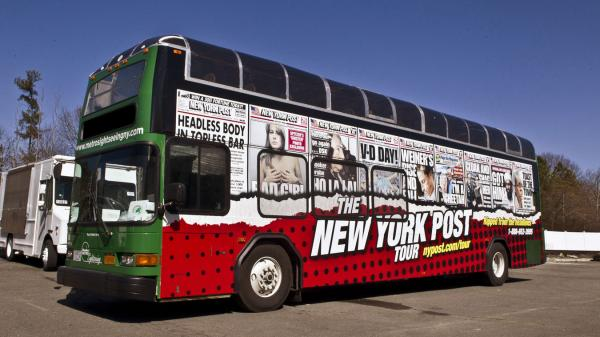 The <em>New York Post</em>, a tabloid known for irreverent and racy news coverage, has launched a bus tour of Manhattan based on some of its most legendary headlines.