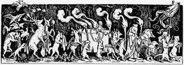 Mahler's ironic funeral march, in his first symphony, was inspired by this woodcut of forest animals bearing the hunter to his grave.