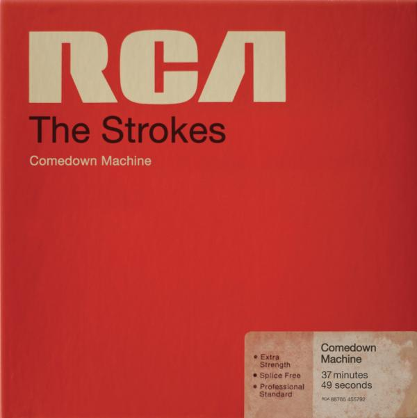 <strong>The Strokes, <em>Comedown Machine</em></strong><br />The Strokes are obsessed with the sounds and images of the 1970s and '80s, so it makes sense that the band's new album would look like a box of magnetic tape manufactured by RCA (conveniently, the band's label).