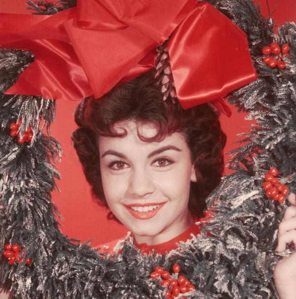 Headshot portrait of American actor and singer Annette Funicello.