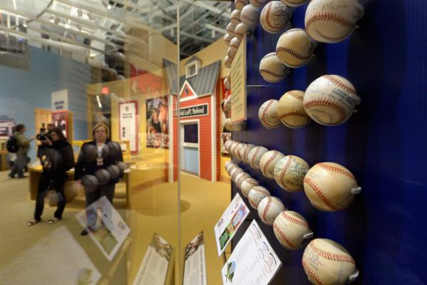 President George W. Bush's baseball collection is among the exhibits at the library.