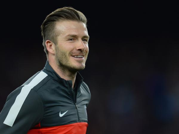 David Beckham of Paris St Germain before the UEFA Champions League quarter-final match with Barcelona last month in Spain.