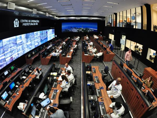 Rio's Operations Center brings together more than 30 agencies and allows them to coordinate on daily issues such as traffic, as well as on emergencies such as the frequent flash floods in hillside slums.