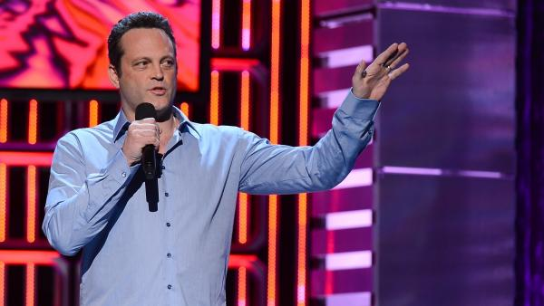 Vince Vaughn, seen here at a comedy show earlier this month, is the star of the upcoming film <em>Delivery Man</em>.