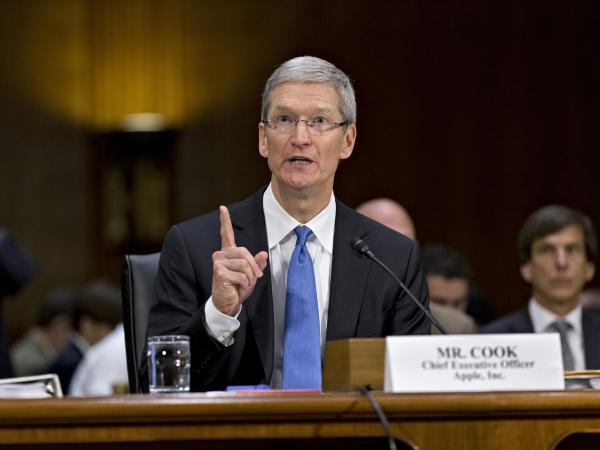 Apple CEO Tim Cook wears ties only for special occasions, like when he testified on Capitol Hill last month.