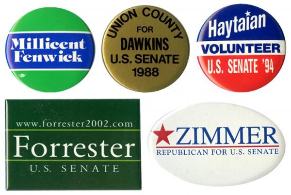 Lautenberg's GOP opponents: Millicent Fenwick 1982, Pete Dawkins 1988, Chuck Haytaian 1994, Doug Forrester 2002 and Dick Zimmer 2008.