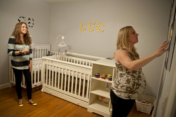 The two arrange the twins' nursery in preparation for Costello's upcoming due date. Costello says their situation has affected Morales' health as stress is one of the main causes for relapses for MS.