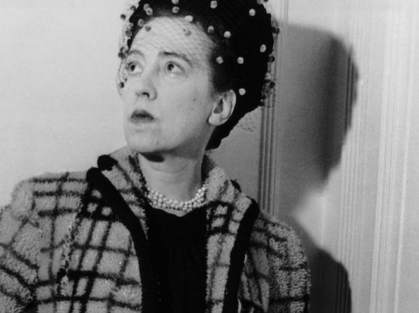 Elsa Luisa Maria Schiaparelli, seen here in 1947, rose to fashion stardom in the 1930s.