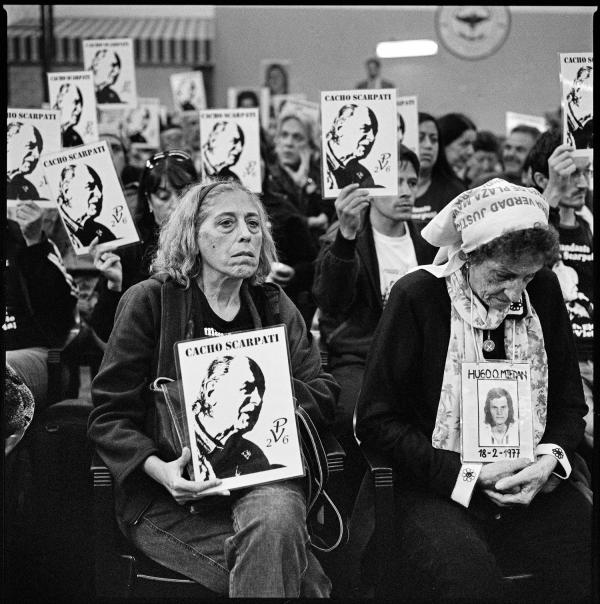 The trial of former Argentine President Reynaldo Bignone, who was sentenced to 25 years in jail for crimes against humanity. Argentina, April 2010