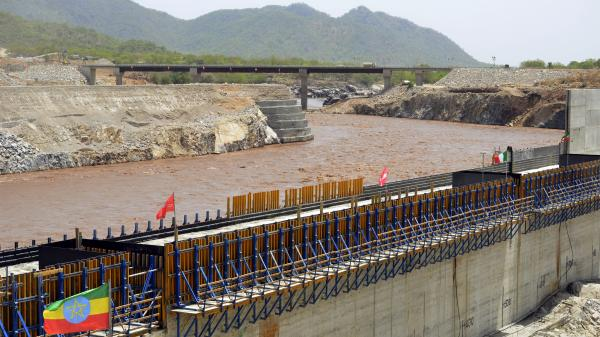 A May 28 photo shows the Blue Nile in Ethiopia, during a diversion ceremony for the country's dam project. Egypt says it is against the plan.