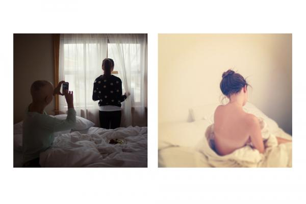 <em>sunday morning marveling</em>(Left by Elizabeth Griffin; right by Amelia Coffaro)