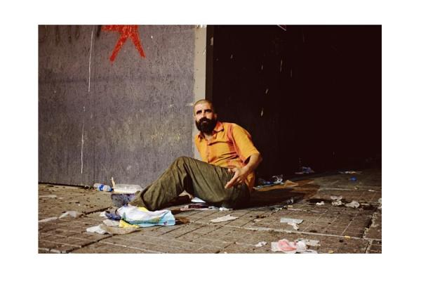 An man on Istiklal Street after violent clashes with police. (Posted to Instagram June 1)
