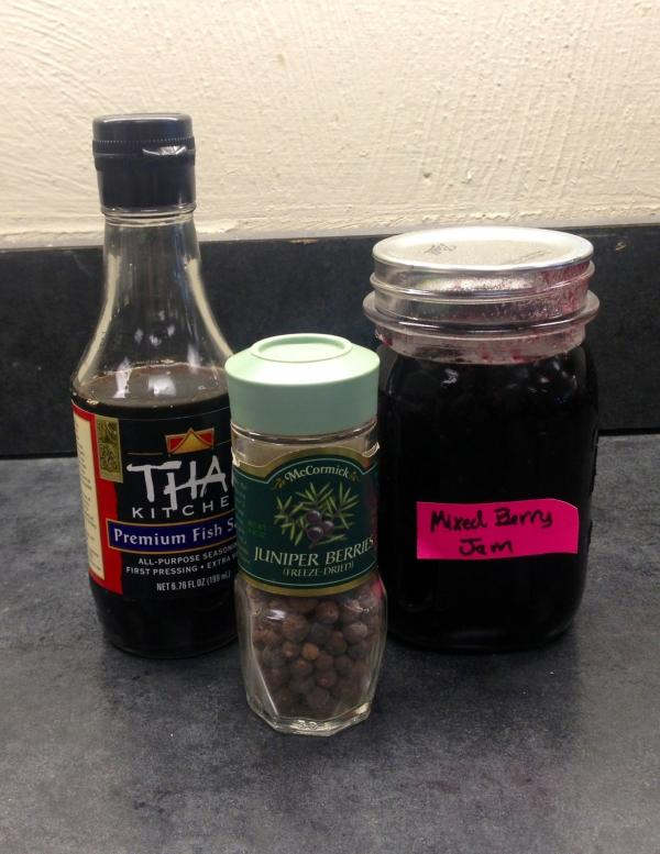 Thai fish sauce, juniper berries and jam