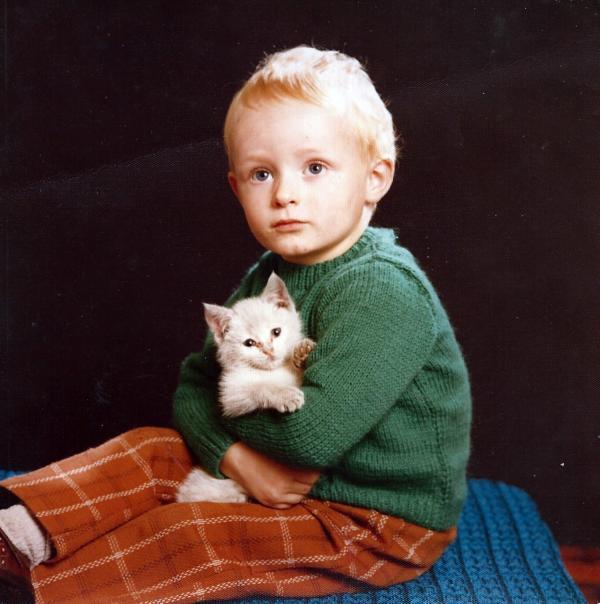 Steafán Hanvey as a young boy.