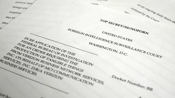 A copy of the U.S. Foreign Intelligence Surveillance Court order requiring Verizon to give the National Security Agency information about calls in its systems, both within the U.S. and between the U.S. and other countries.