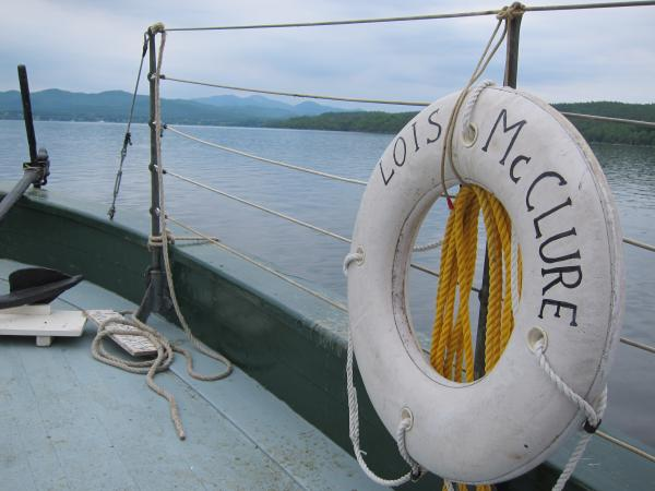The canal schooner Lois McClure is a replica of the boats that carried cargo along northeast waterways in the 1800s.