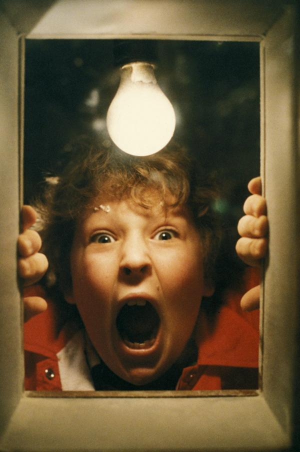 Actor Jeff Cohen in a scene from <em>The Goonies</em>.